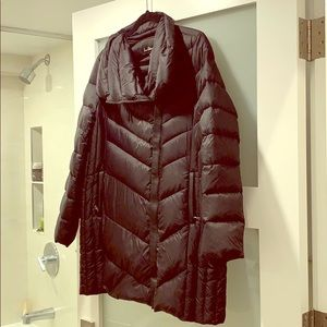 Sam Edelman puffer coat with leather trim
